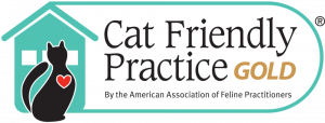 Cat friendly practice gold badge by the american association of feline practitioners